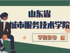 山东省城市服务技术学院学费多少