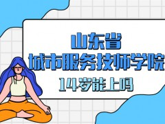 山东省城市服务技师学院14岁能上吗